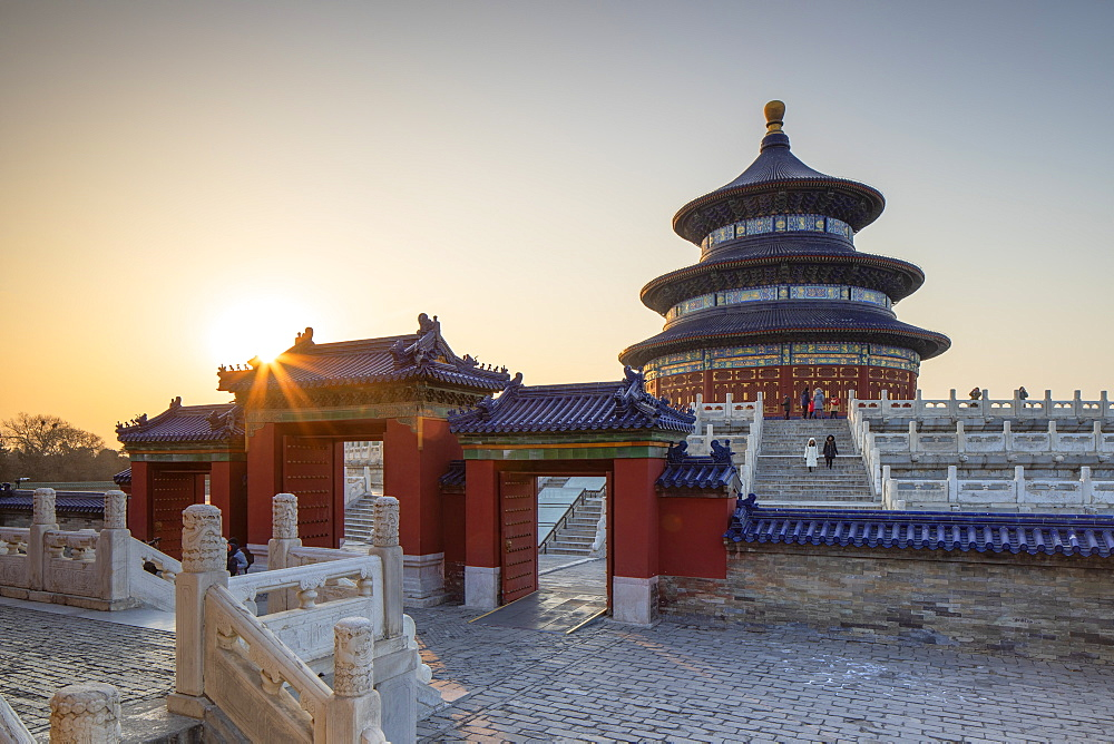 Temple of Heaven at sunrise, UNESCO World Heritage Site, Beijing, China, Asia - 800-3926