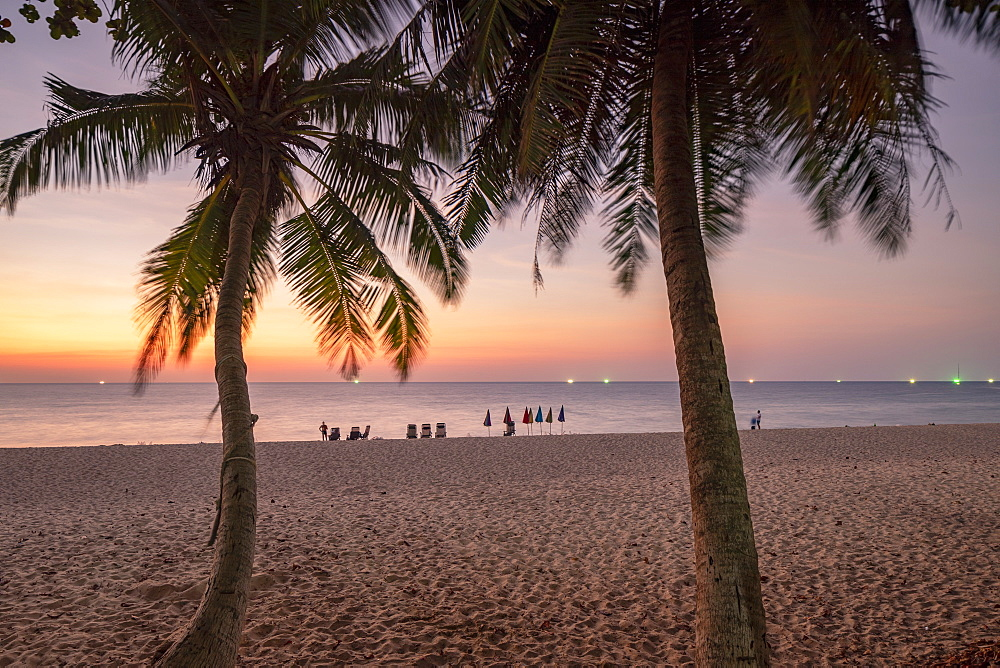 Surin Beach at sunset, Phuket, Thailand, Southeast Asia, Asia - 800-3948