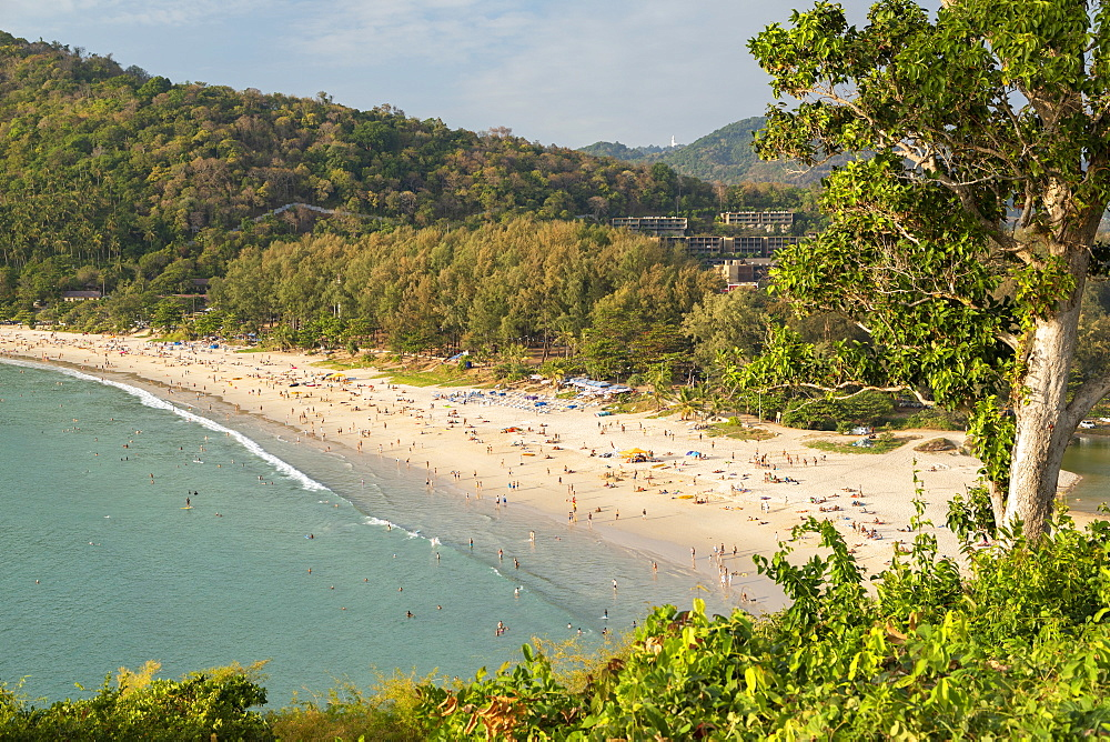 Elevated view of Hai Nan Beach, Phuket, Thailand, Southeast Asia, Asia - 800-3961