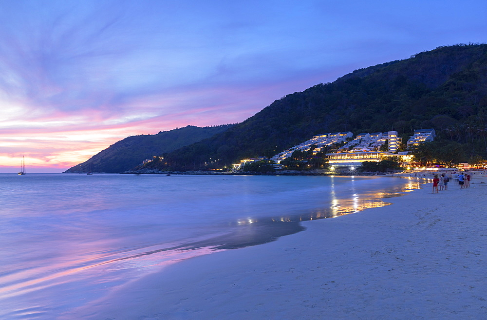 Hai Nan Beach at sunset, Phuket, Thailand, Southeast Asia, Asia - 800-3964