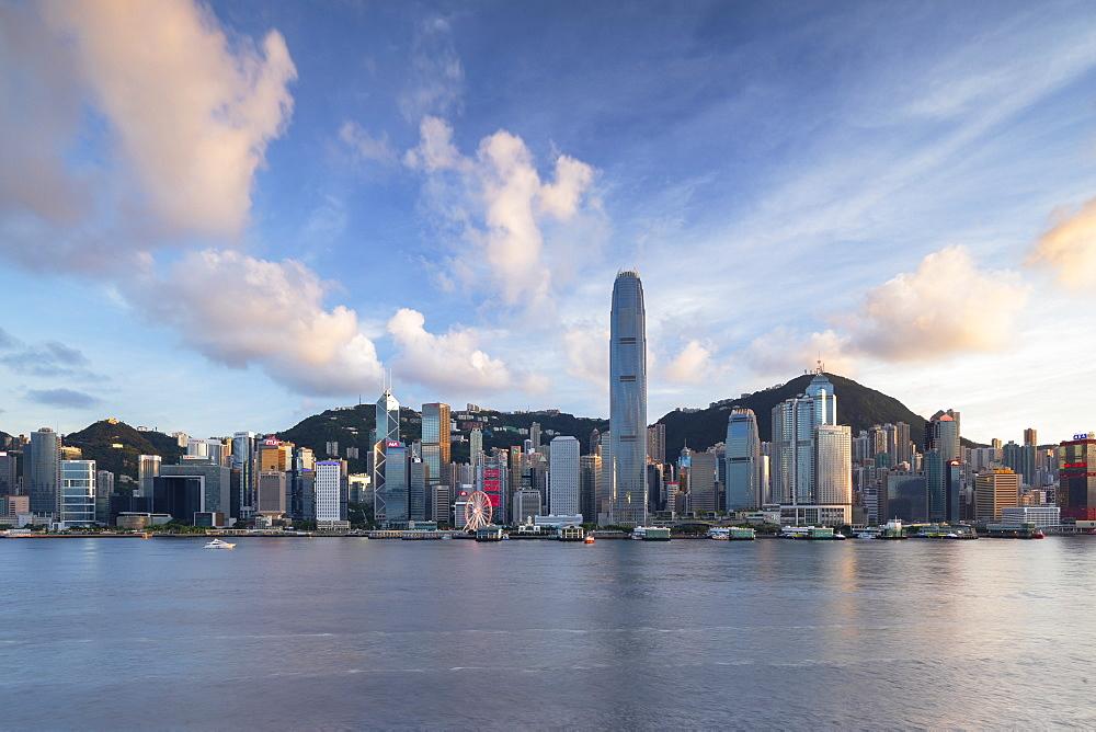 Skyline of Hong Kong Island, Hong Kong, China, Asia