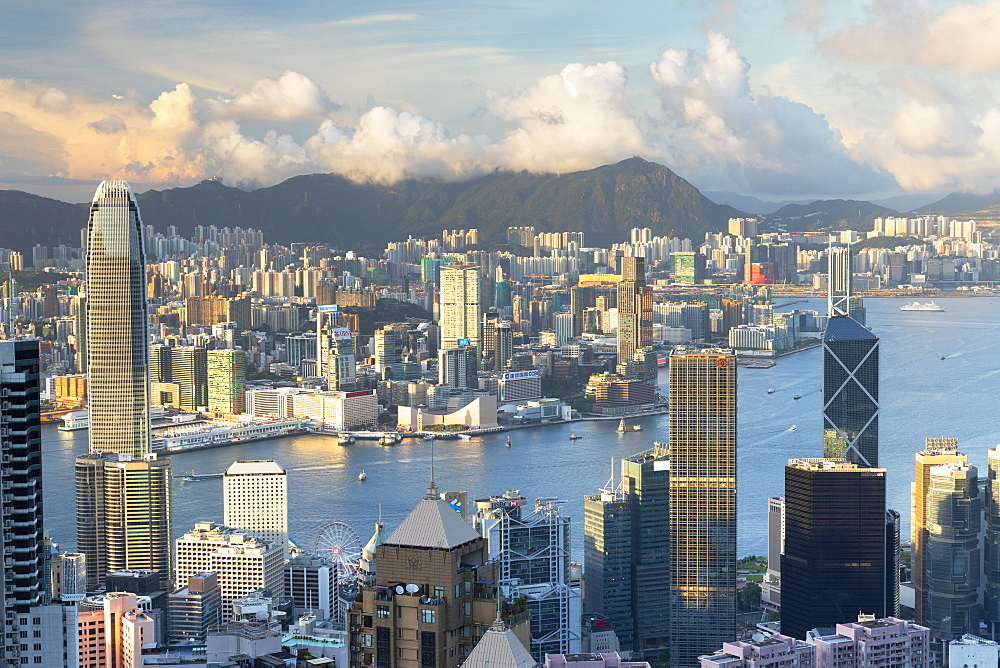 Skyline of Hong Kong Island and Kowloon, Hong Kong, China, Asia - 800-3978