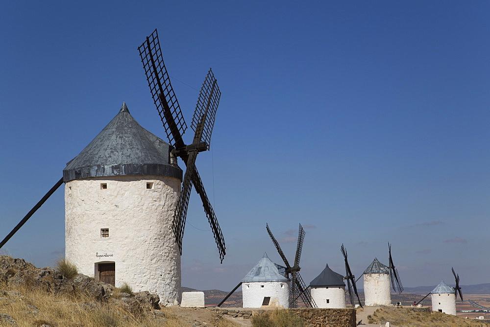 Windmills, Consuegra, Castile-La Mancha, Spain, Europe