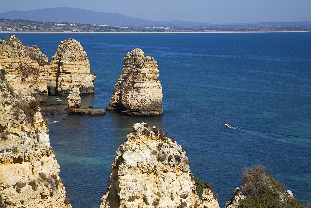 View from Ponta da Piedade, Lagos, Algarve, Portugal, Europe