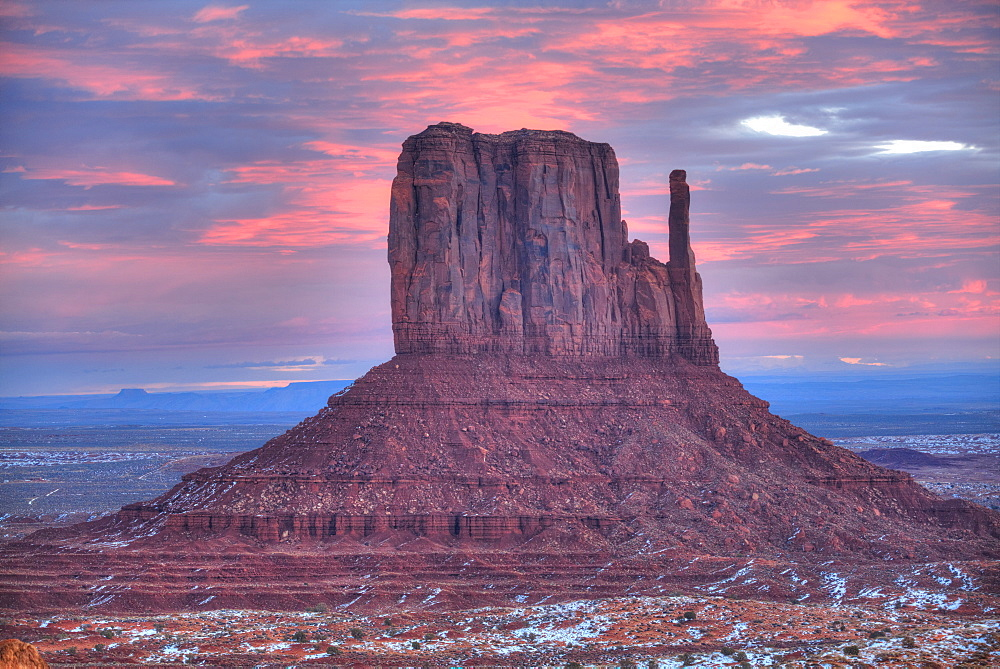 Sunrise, West Mitten Butte, Monument Valley Navajo Tribal Park, Utah, United States of America, North America
