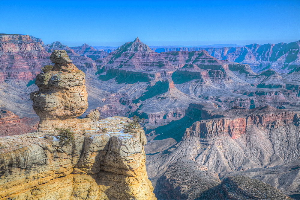 Duck Rock, South Rim, Grand Canyon National Park, UNESCO World Heritage Site, Arizona, United States of America, North America