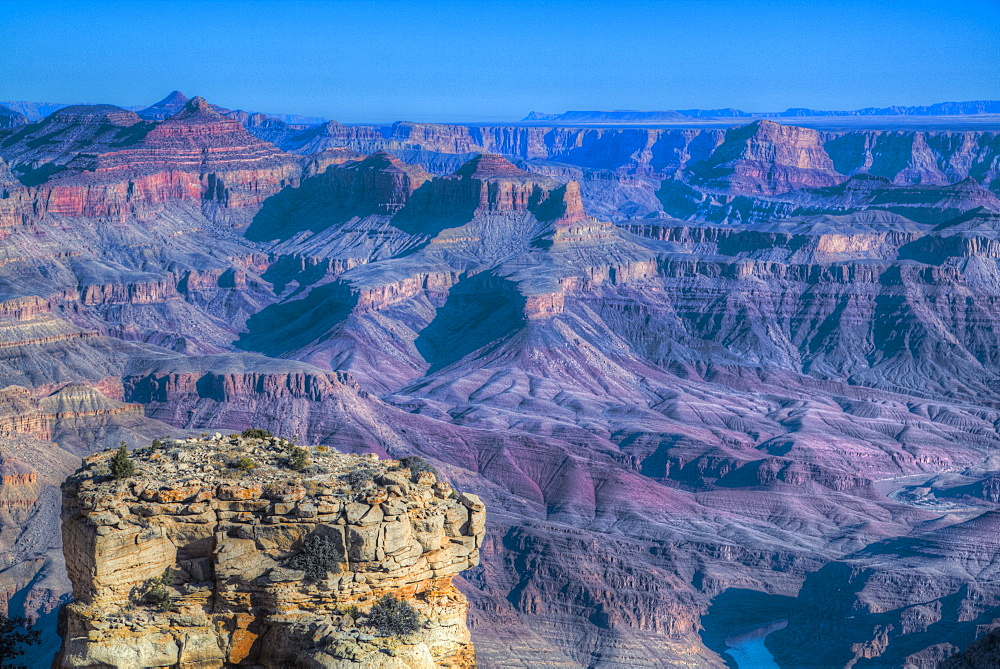 From Turnout near Lipan Point, South Rim, Grand Canyon National Park, UNESCO World Heritage Site, Arizona, USA