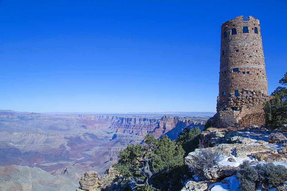 Tower, Desert View Point, South Rim, Grand Canyon National Park, UNESCO World Heritage Site, Arizona, USA