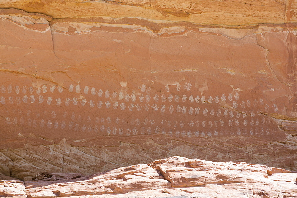 100 Hands Pictograph Panel, Grand Staircase-Escalante National Park, Utah, USA - 801-2055