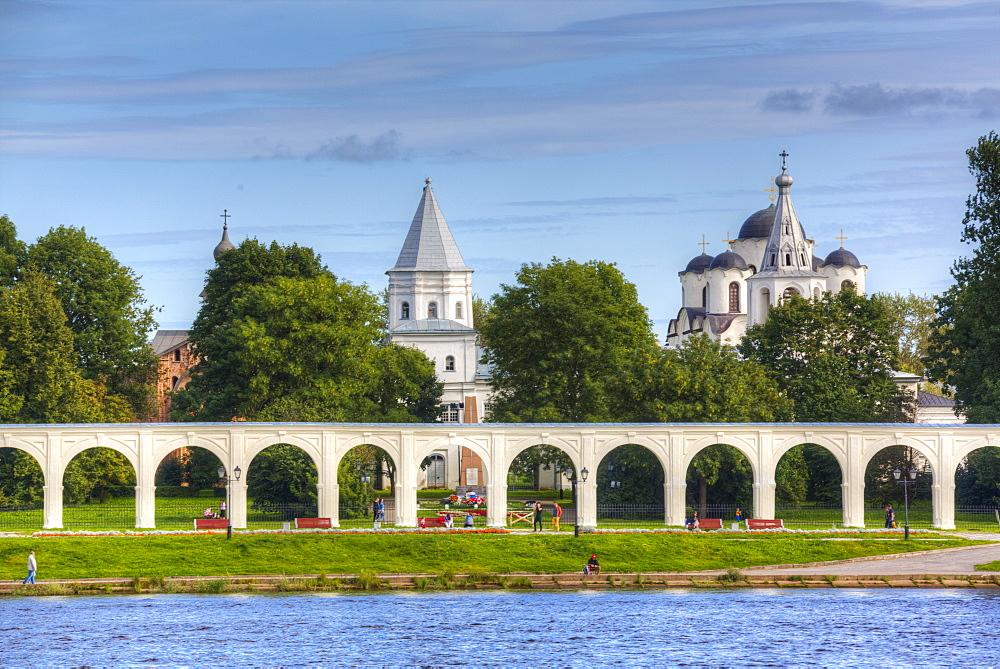 Yaroslav's Court, UNESCO World Heritage Site, Veliky Novgorod, Novgorod Oblast, Russia