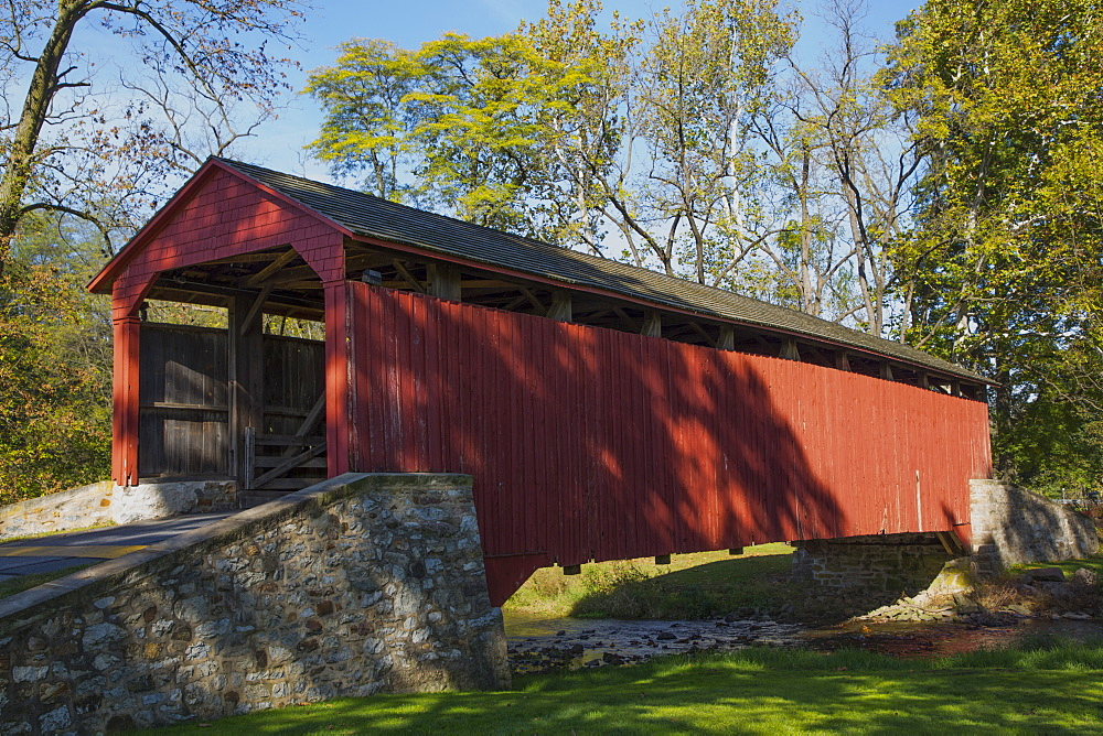 Pool Forge Covered Bridge, built in 1859, Lancaster County, Pennsylvania, United States of America, North America
