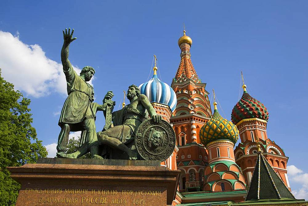 St. Basil's Cathedral, Red Square, UNESCO World Heritage Site, Moscow, Russia, Europe - 801-2375