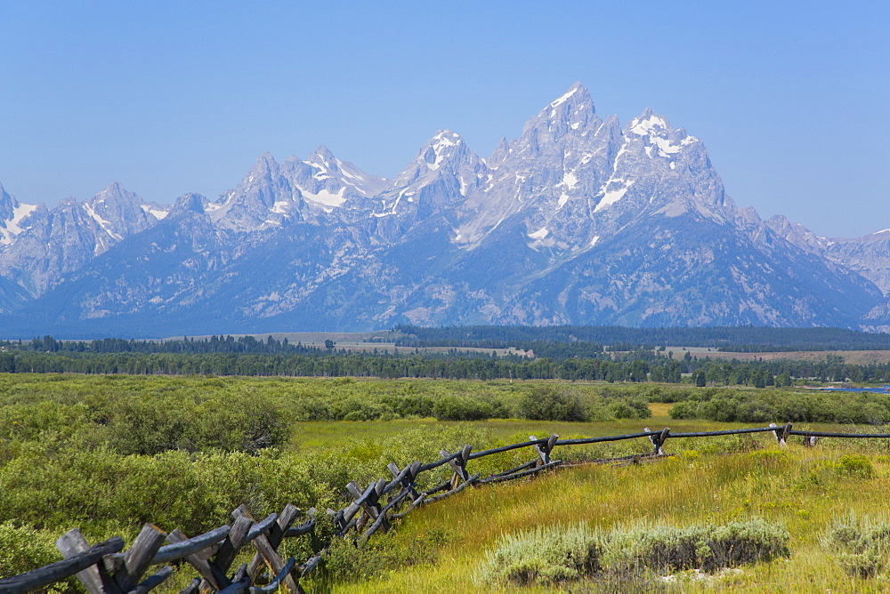 Teton Range from Cunningham Cabin area, Grand Teton National Park, Wyoming, United States of America, North America - 801-2421