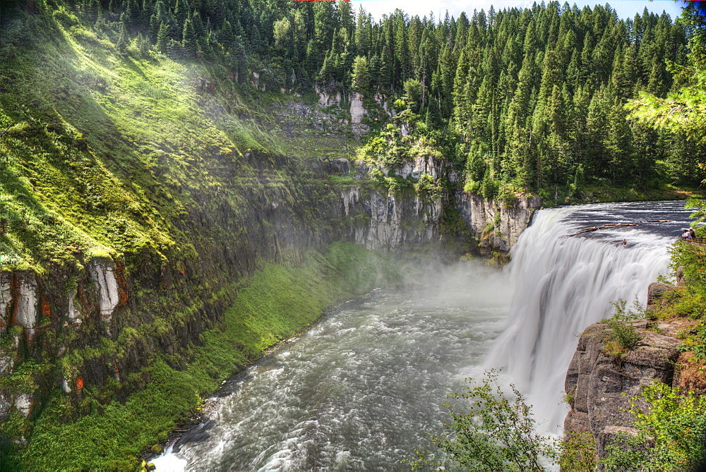 Upper Mesa Falls, near Island Park, Idaho, United States of America, North America - 801-2424