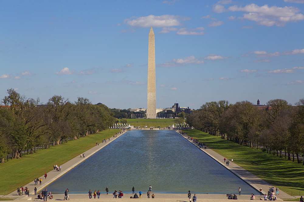 Washington Monument taken from Lincoln Monument, Washington D.C., United States of America, North America