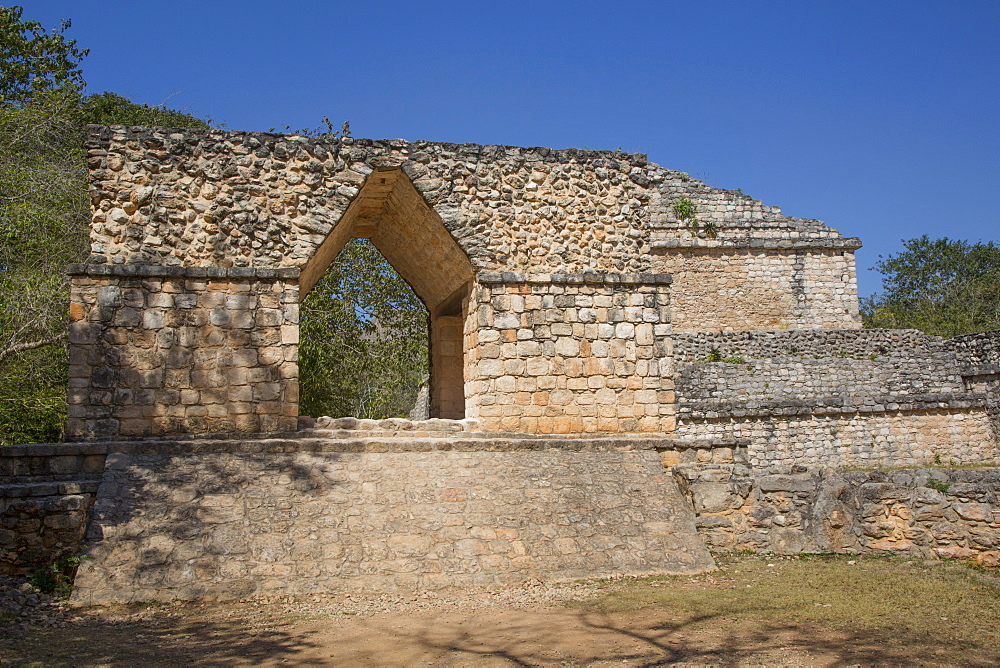 Entrance Arch, Ek Balam, Yucatec-Mayan Archaeological Site, Yucatan, Mexico, North America