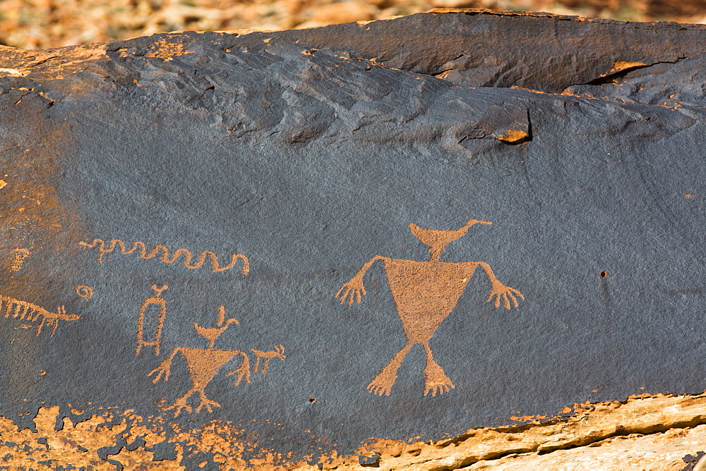 Duckhead Man Petroglyph, Bears Ears National Monument, Utah, USA