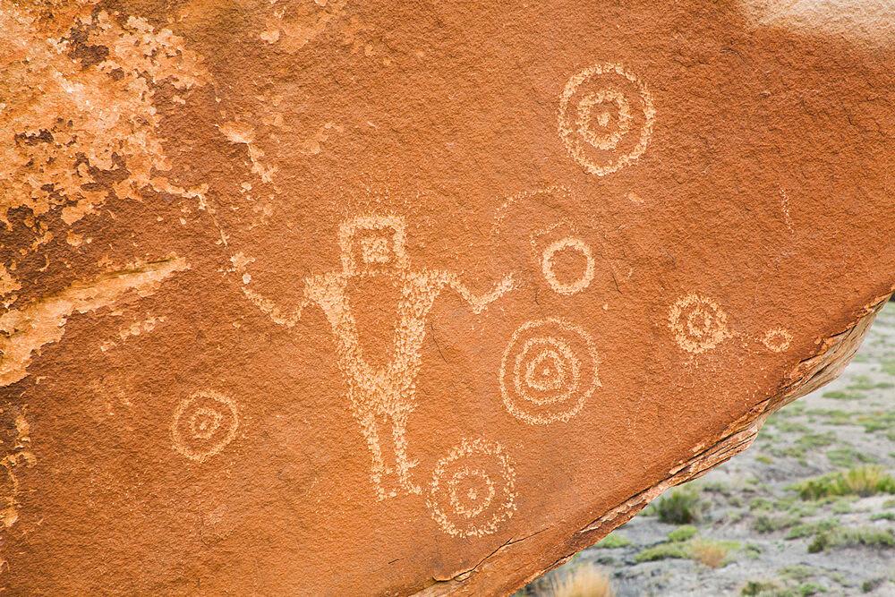 The Juggler Petroglyph Panel, San Rafael Swell, Utah, USA