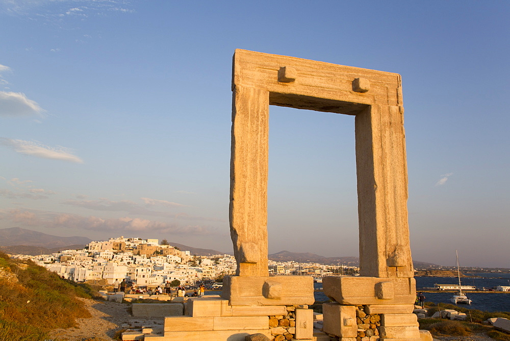 Temple of Apollo (Portara), Hora (Chora), Naxos Island, Cyclades Group, Greek Islands, Greece, Europe