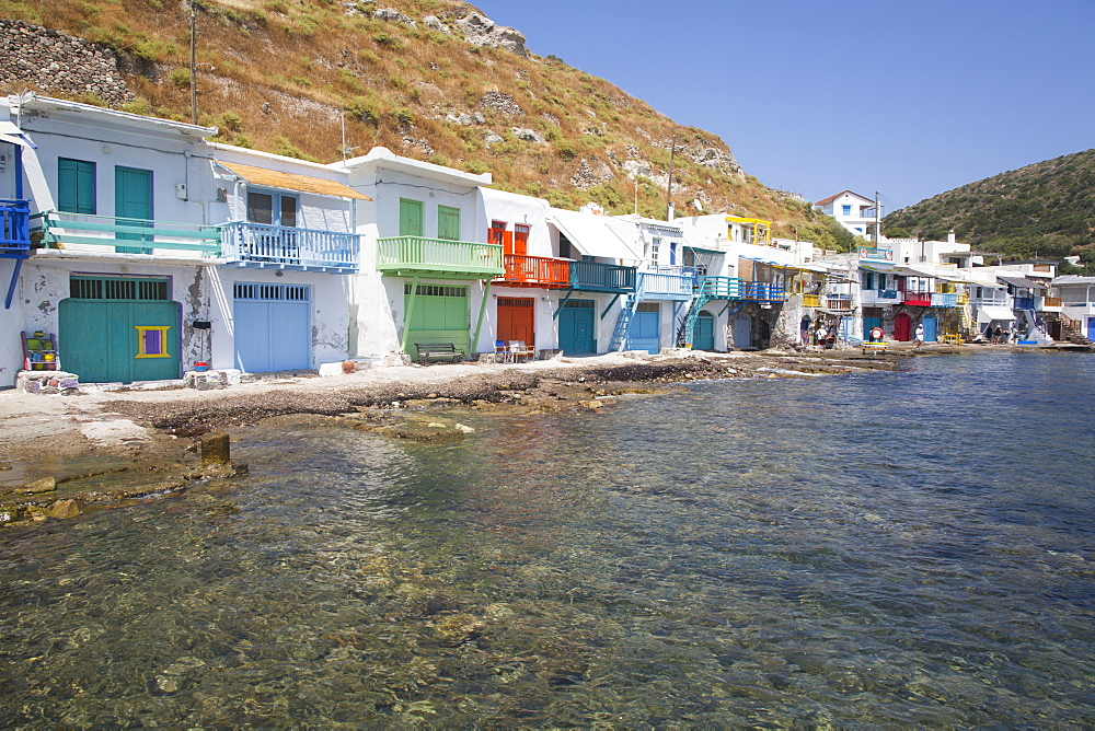 Klima Village, Milos Island, Cyclades Group, Greek Islands, Greece, Europe