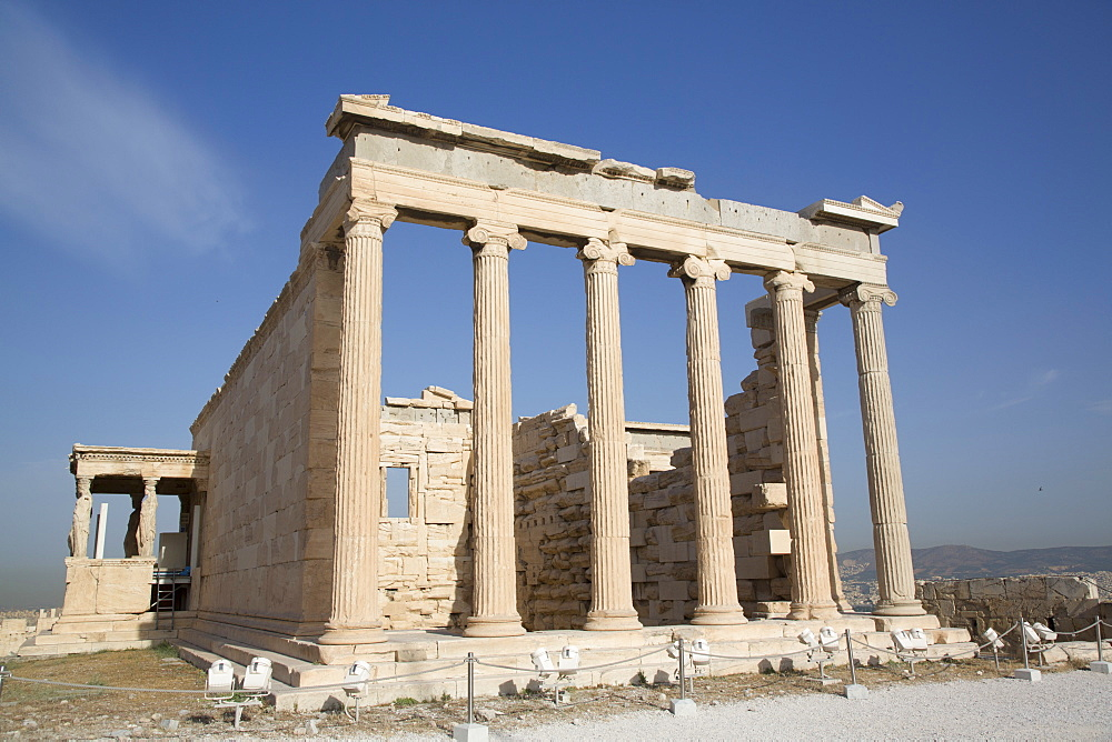 Temple of Erectheion, Acropolis, UNESCO World Heritage Site, Athens, Greece, Europe