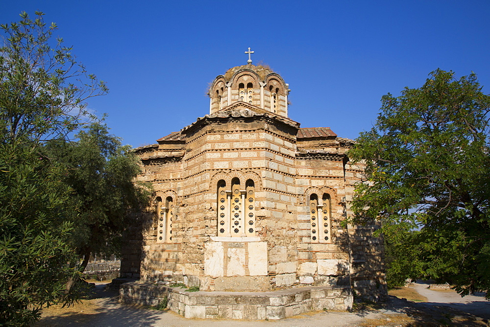 Church of the Holy Apostles, 10th century, Ancient Agora, Athens, Greece, Europe