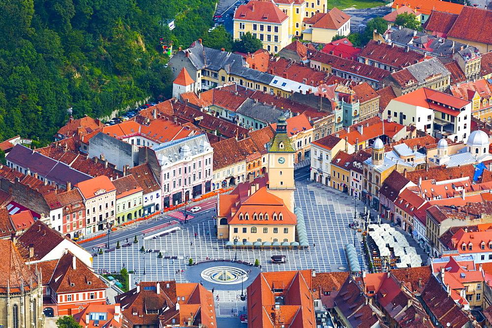 Piata Sfatului (Council Square), Brasov, Transylvania Region, Romania, Europe - 801-2706