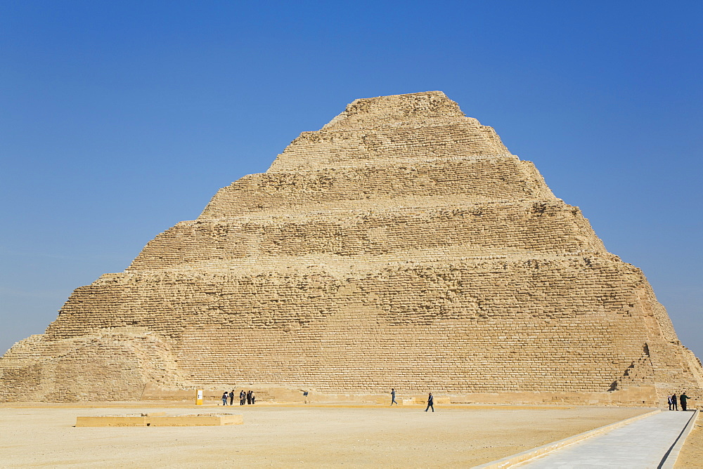 Djoser's Step Pyramid, Step Pyramid Complex, UNESCO World Heritage Site, Saqqara, Egypt, North Africa, Africa