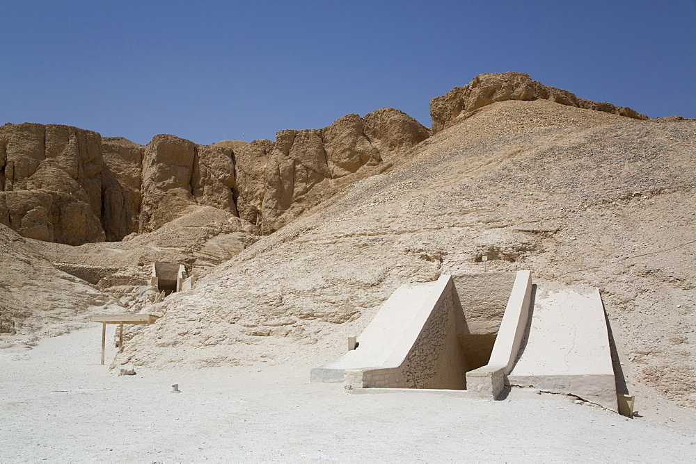 Tomb Entrance, Valley of the Kings, UNESCO World Heritage Site, Luxor, Thebes, Egypt, North Africa, Africa
