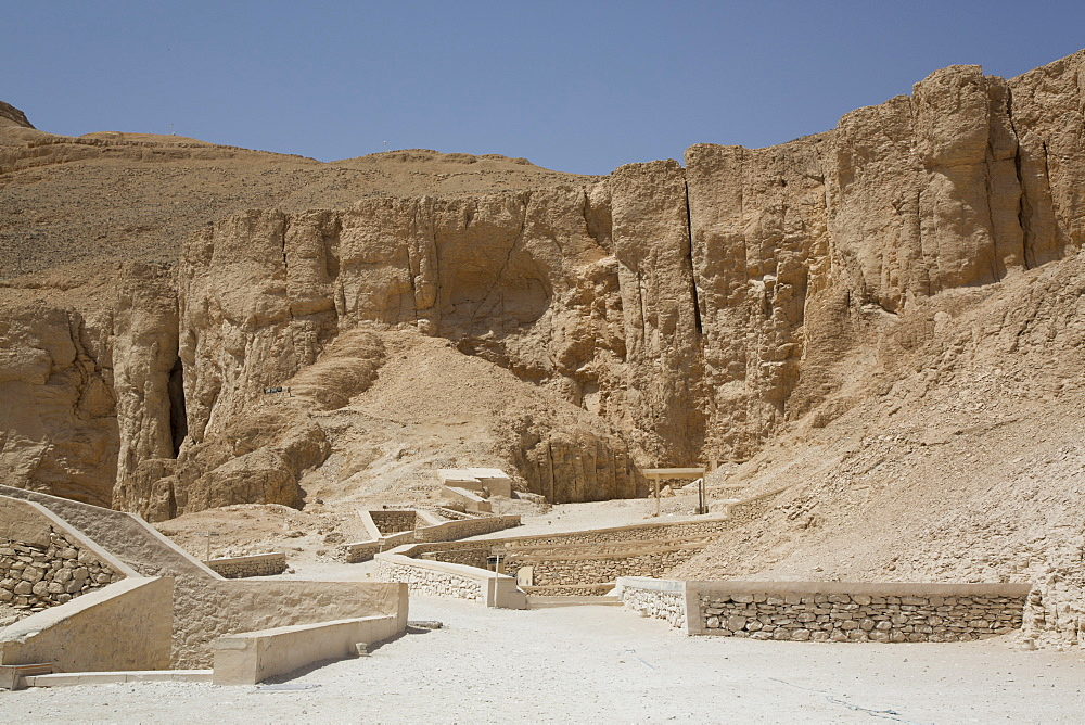 Tomb Entrances, Valley of the Kings, UNESCO World Heritage Site, Luxor, Thebes, Egypt, North Africa, Africa