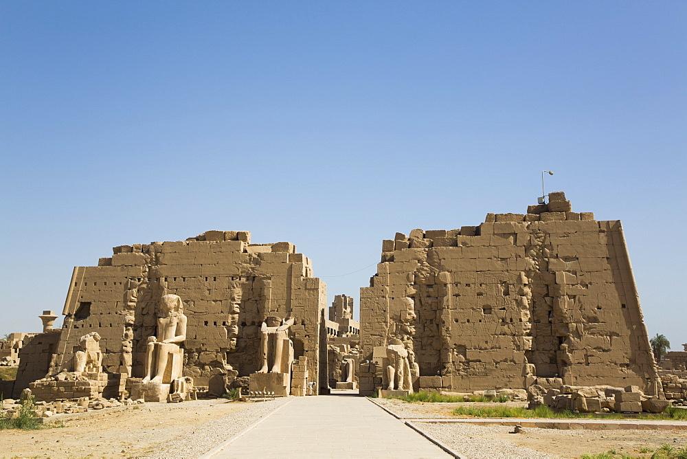 Seventh Pylon, Karnak Temple Complex, UNESCO World Heritage Site, Luxor, Thebes, Egypt, North Africa, Africa - 801-2989