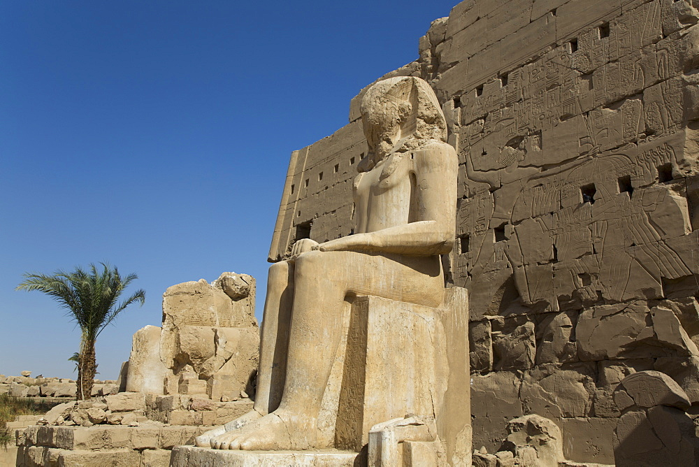 Colossus of Tuthmosis III, Eighth Karnak Temple Complex, UNESCO World Heritage Site, Luxor, Thebes, Egypt, North Africa, Africa - 801-2991