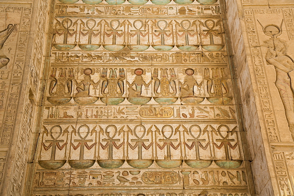 Reliefs, Gateway of Ptolemy III, Karnak Temple Complex, UNESCO World Heritage Site, Luxor, Thebes, Egypt, North Africa, Africa