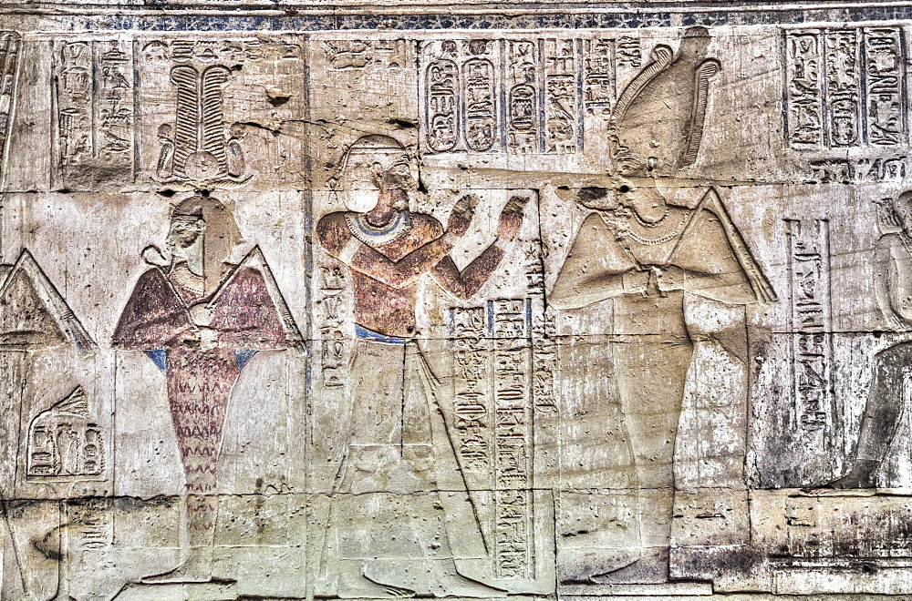 Wall of Reliefs, Temple of Osiris and Opet, Karnak Temple Complex, UNESCO World Heritage Site, Luxor, Thebes, Egypt, North Africa, Africa - 801-2998