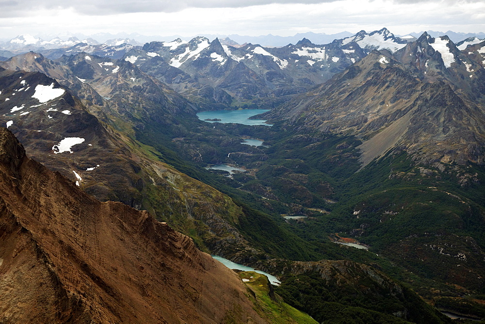 Mountain landscape, Martial Alps, Tierra del Fuego, Argentina, South America