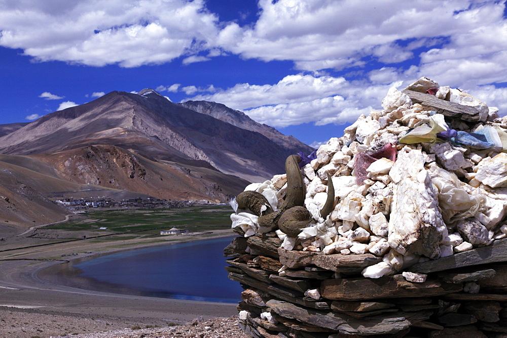 Tso Mori lake, southeast Ladakh, India, Asia - 802-363