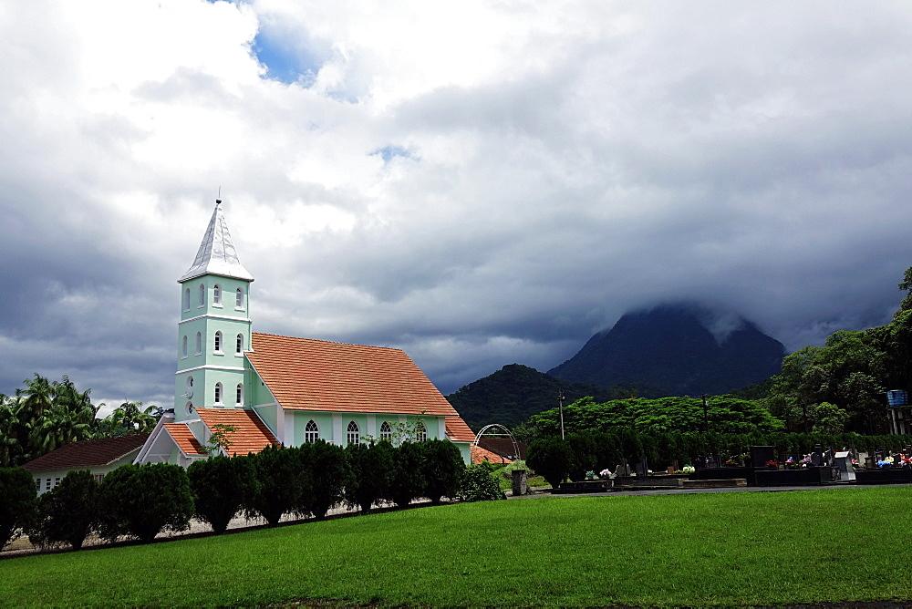 A church in the Serra do Mar, Santa Catarina, Brazil