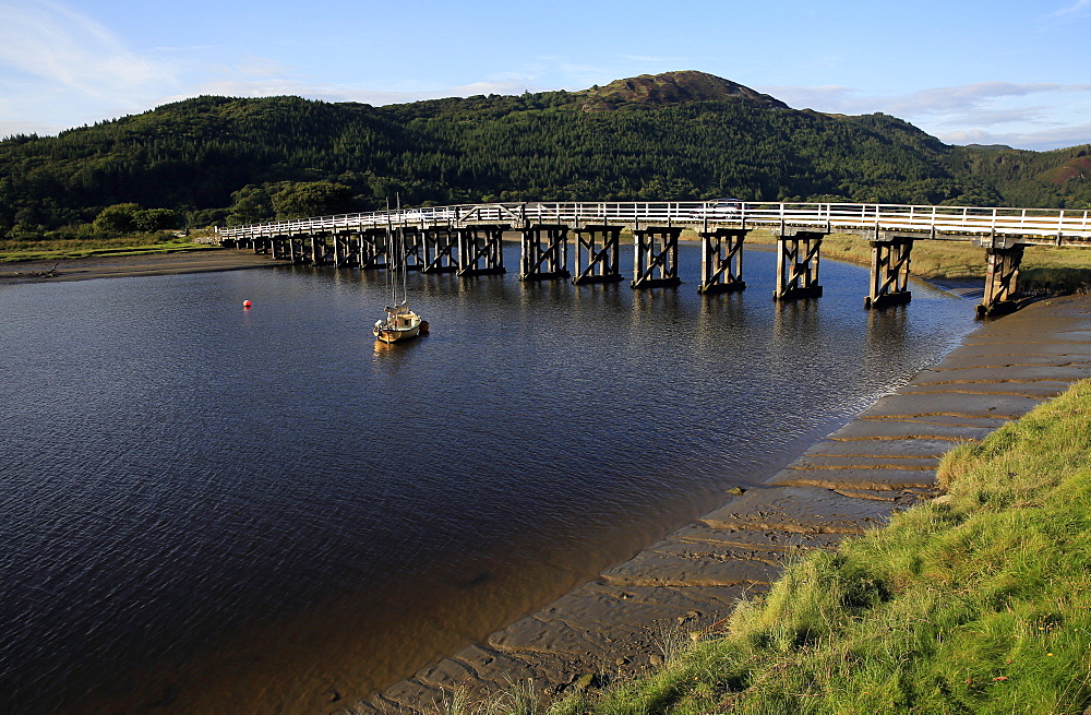 Bridge over the estuary at Barmouth, Wales - 802-380