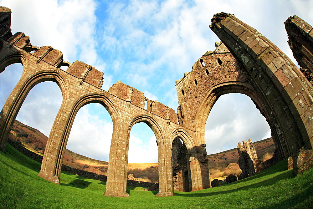 Ruins of Llanthony Priory, Monmouthshire, Wales - 802-411