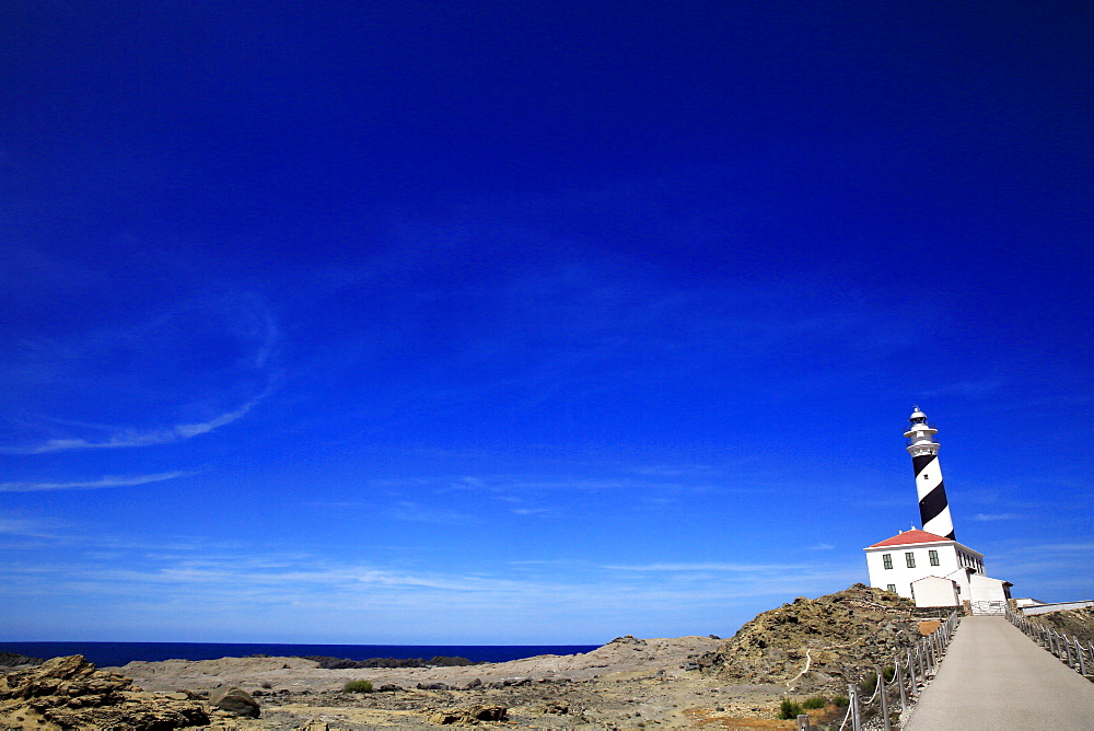 Lighthouse, northeast Menorca, Balearic Islands, Spain, Mediterranean, Europe
