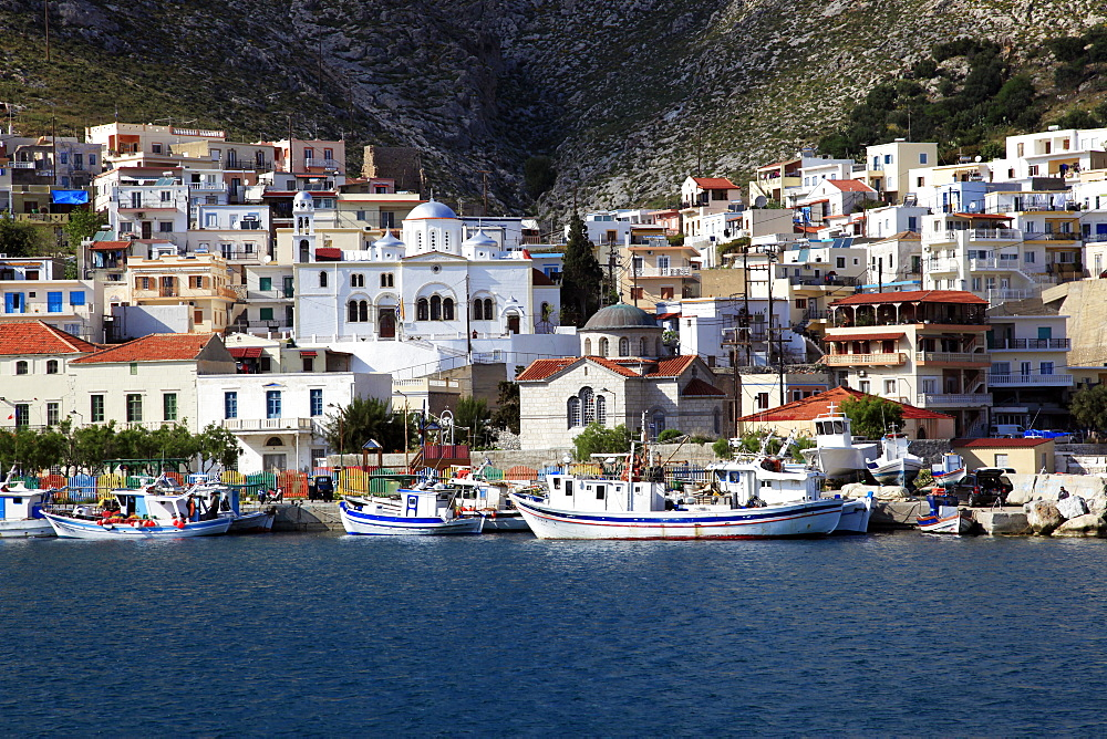 The harbour of Pothia, Kalymnos, Dodecanese, Greek Islands, Greece, Europe - 802-516