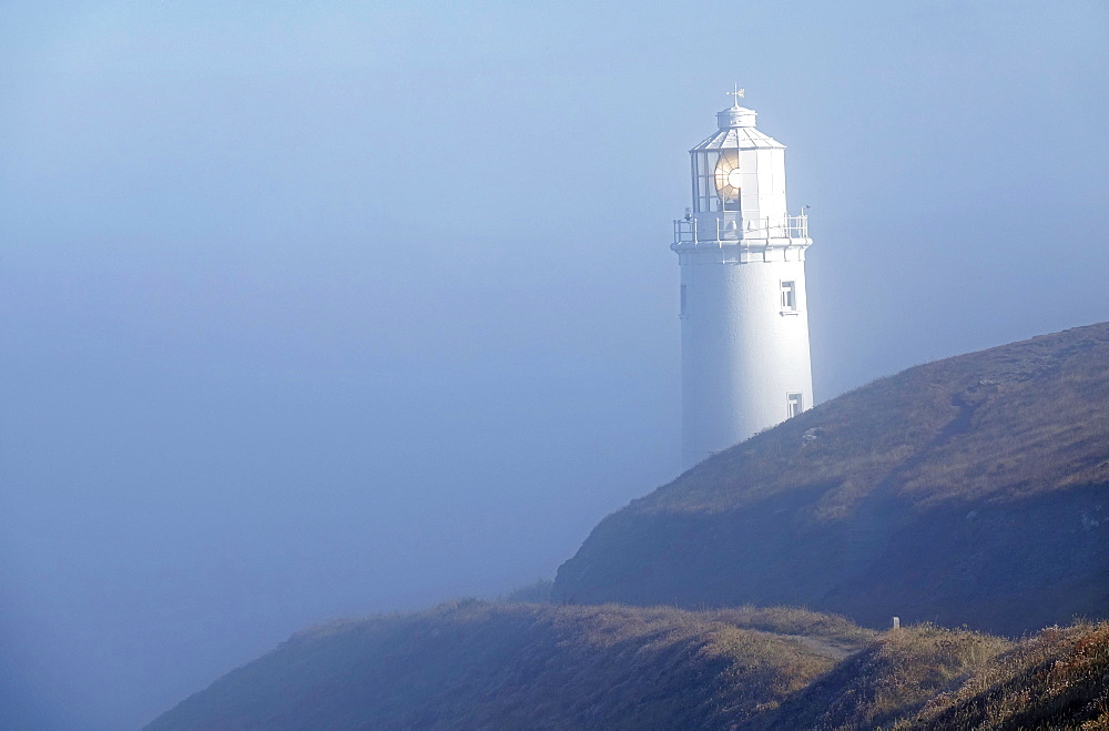 Lighthouse at Trevose Head, North Cornwall, England, United Kingdom, Europe - 802-520