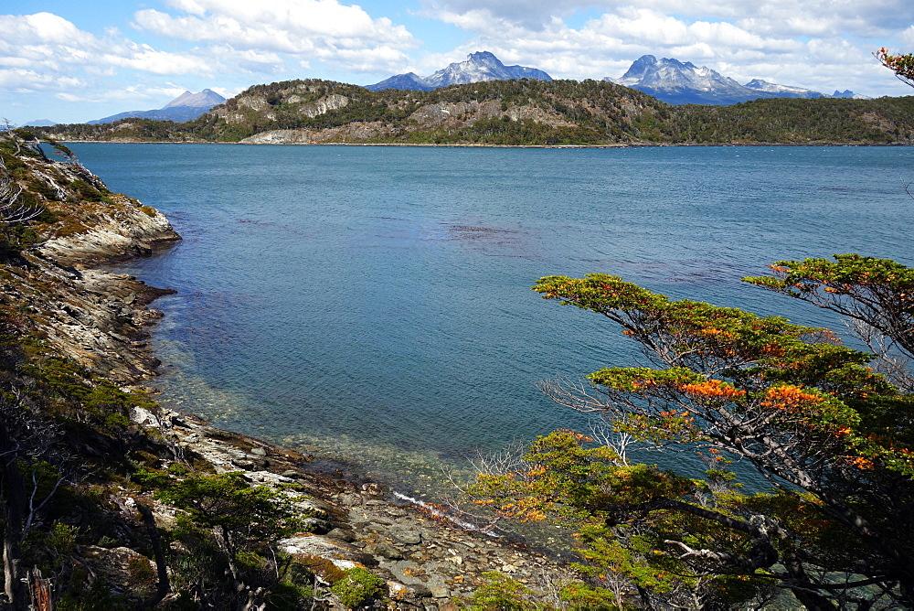 Seascape near Ushuaia, Tierra del Fuego, Patagonia, Argentina, South America - 802-526