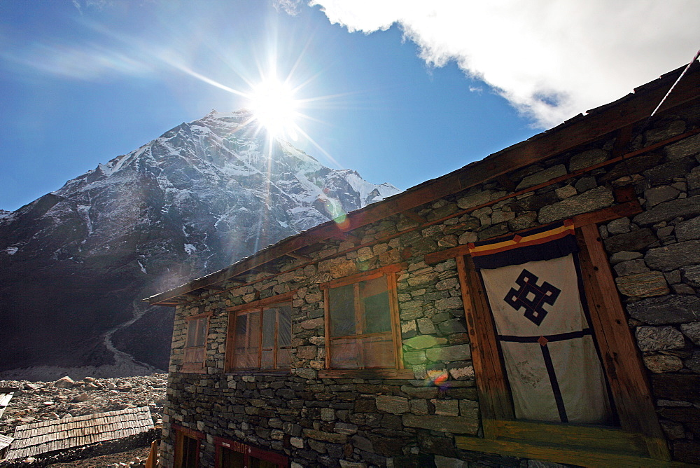 Tea house, high Khumbu, Himalayas, Nepal, Asia - 802-535