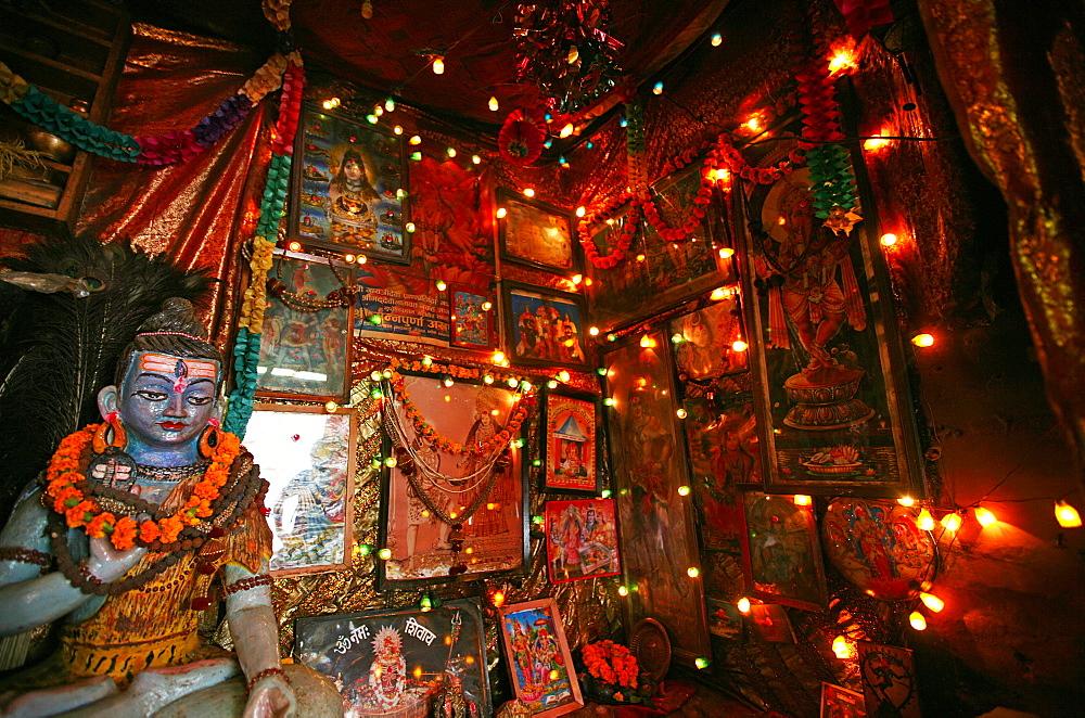 Sadhu's den, Kathmandu, Nepal, Asia - 802-543