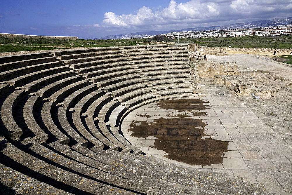 Amphitheatre in the Paphos Archaeological Park, UNESCO World Heritage Site, Paphos, Cyprus, Europe