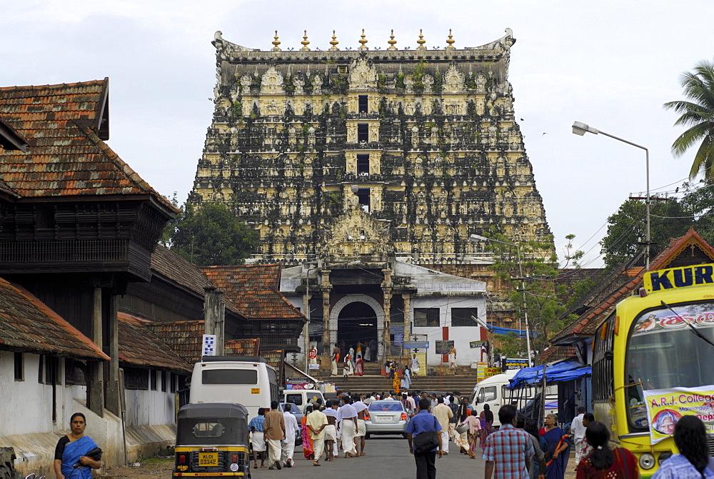Sree Padmanabhaswamy Temple, Trivandrum, Kerala, India, Asia