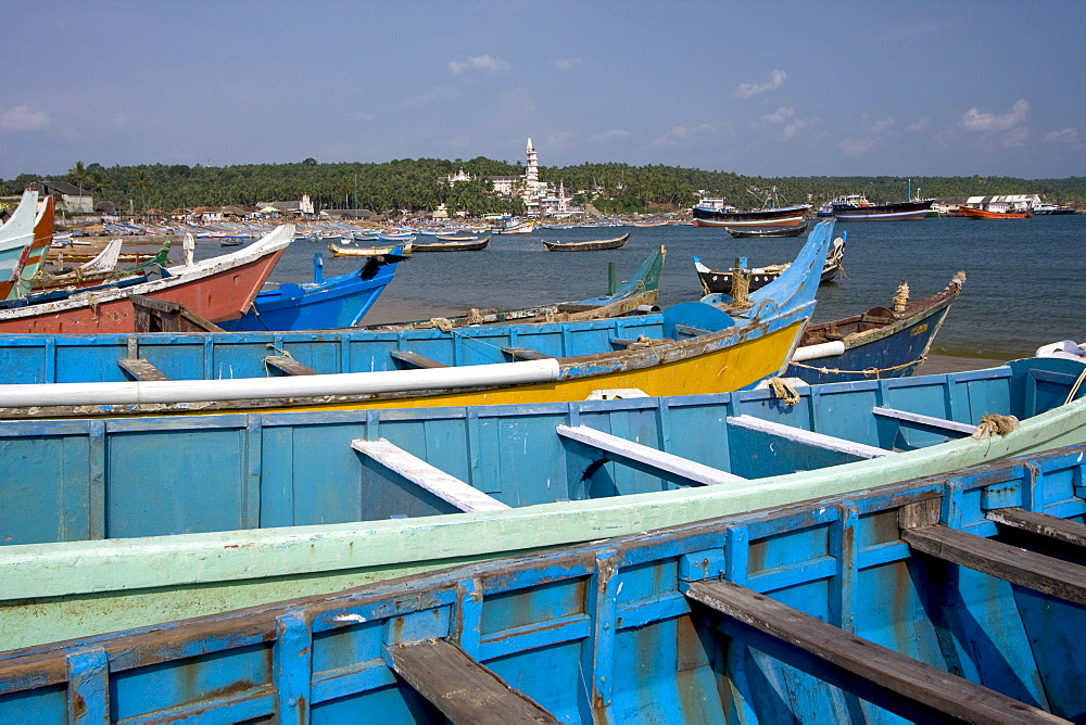 Fishing boats, Vizhinjam, Trivandrum, Kerala, India, Asia - 804-275