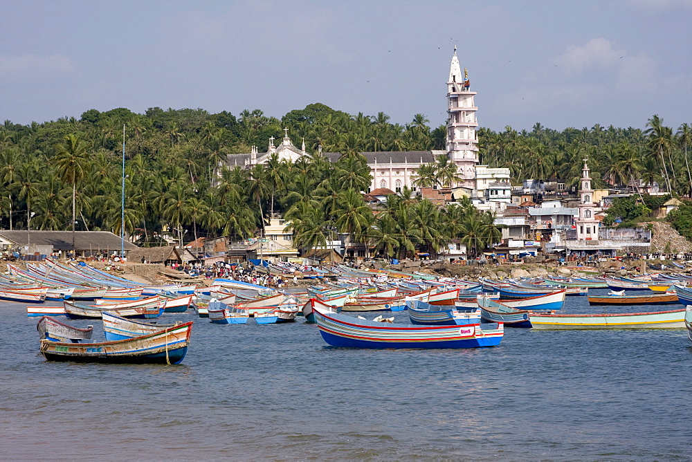 Fishing boats, Vizhinjam, Trivandrum, Kerala, India, Asia - 804-277