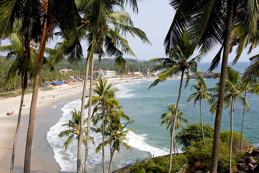 View of Kovalam beach, Trivandrum, Kerala, India, Asia - 804-280